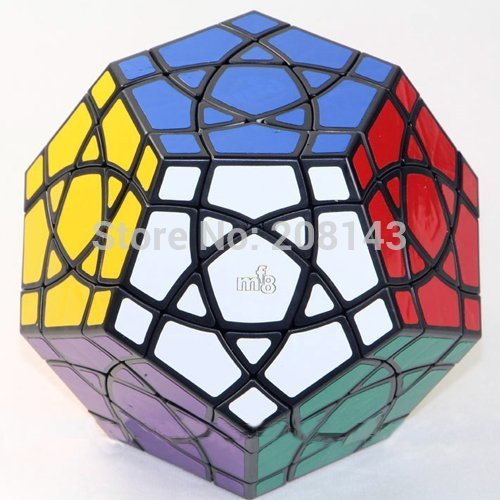 Mf8 Curvy Starminx cubo dodecaedro Magic negro Puzzle Cube Twisty juguete