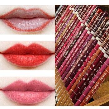 Lápiz labial de larga duración para mujer, lápiz de labios de contorno,...