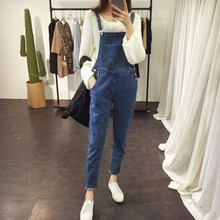 Women Casual Denim Jumpsuits Solid Girls Stretchable Suspender Long Pants Jeans Jumpsuits Blue Overalls Romper Female цена