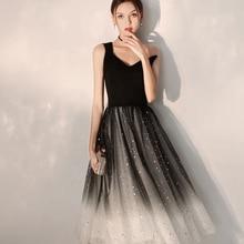 Коктейльное Платье черное с одним плечом Плиссированное женское вечернее платье без рукавов размера плюс сексуальное платье с глубоким v-образным вырезом коктейльные платья E707