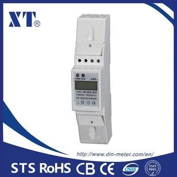 5 (80) un 230 V 60Hz voltaje corriente potencia reactiva positiva inversa positiva monofásico carril DIN kWh Watt hora energía metros