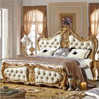 high quality bed Fashion European French Carved bedside 1.8 m bed p10066