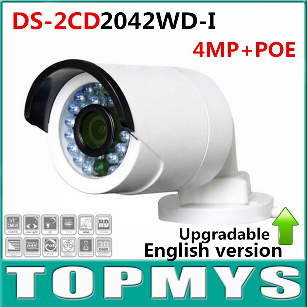 DS-2CD2042WD-I Full HD 1080P 4MP 120dB  English version V 5.3.6 WDR POE IR Bullet Security Camera Network CCTV IP Camera Onvif