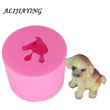 3D dog Mold silicone molds Fondant Moulds Resin Clay Soap candle Polymer Candy Chocolate DY0018