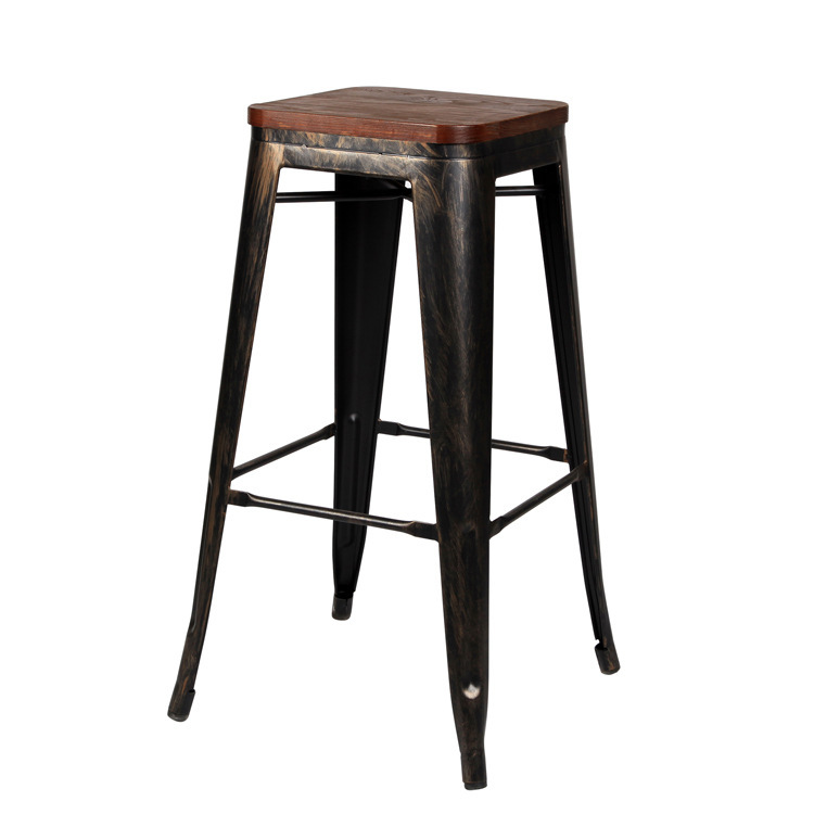 Supply New Custom Bar Stool Bar Stool High Stool Home Solid Wood Bar Stool Creative Nordic Front Desk Modern Minimalist Rotating Chair Complete In Specifications Bar Chairs