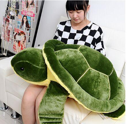 Большой 85 см мультфильм зеленый врезной плюшевая игрушка Черепаха кукла, мягкая подушка подарок на день рождения Рождественский подарок ...