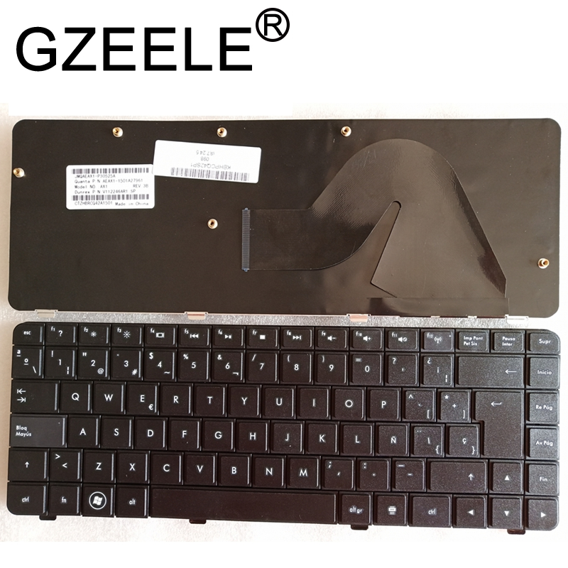 GZEELE New Spanish Keyboard For Hp COMPAQ G42 CQ42 AX1 G42-100 G42-200 G42-300 G42-400 SP Teclado Laptop / Notebook QWERTY Black