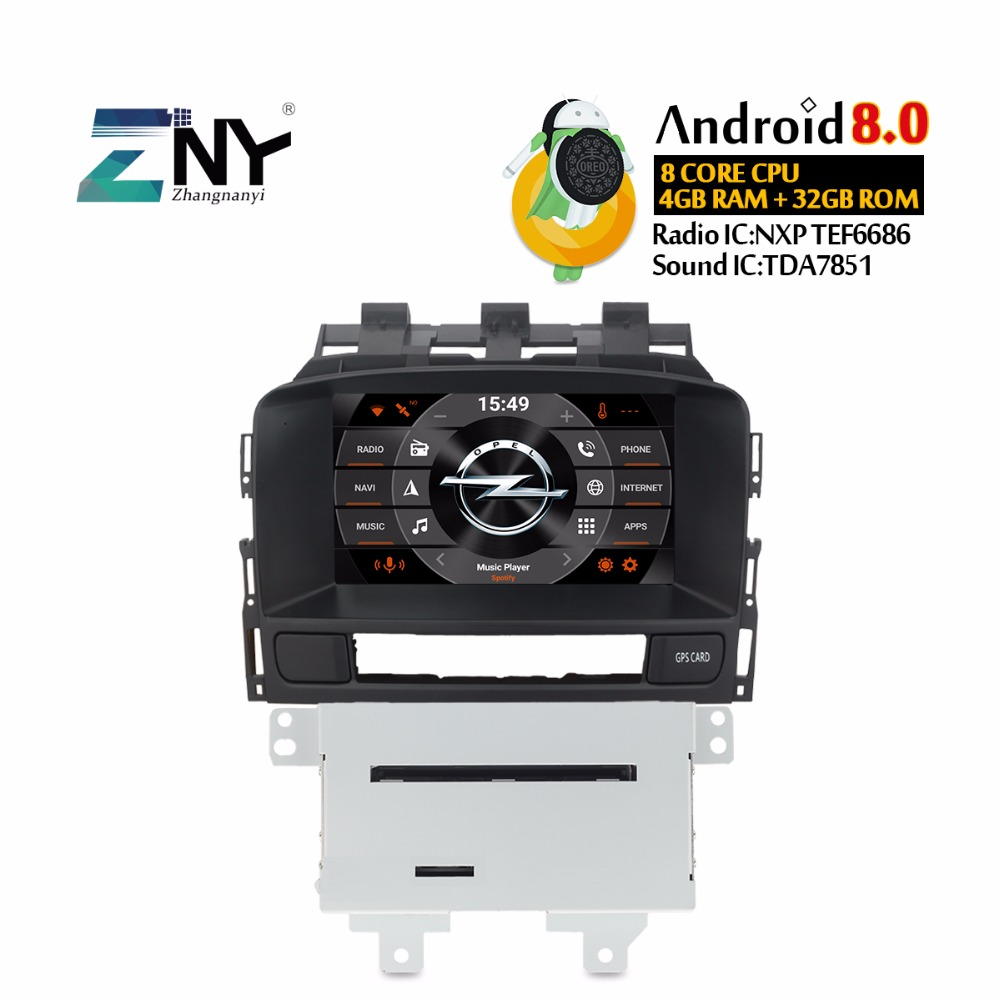 Android 8.0 7.1 Auto Radio Car Stereo For Opel Vauxhall Astra J CD300 CD400 2 Din Car DVD Player 7 HD Bluetooth GPS Navigation