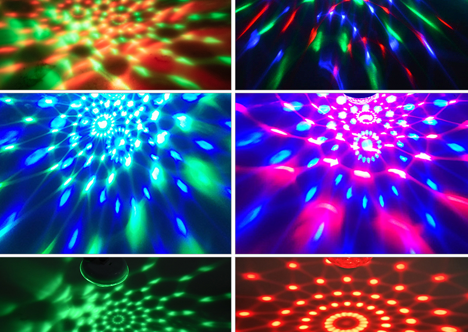 Mini USB led Party Lights Portable Crystal Magic Ball (4)