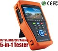 5 in 1 Touchscreen POE CCTV Tester for IP / AHD / CVI / TVI / Analog Camera, 1080P BNC Network Cable Tester re-charge Battery