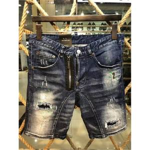 b0f72c4811217 2018 Ripped Denim Shorts Slim Casual Jeans Men short homme