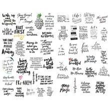 1 шт. черный текст благословение слова Эстетическая пуля журнал стикер s Скрапбукинг канцелярская этикетка наклейка хлопья школьные принадлежности канцелярия наклейки стикеры