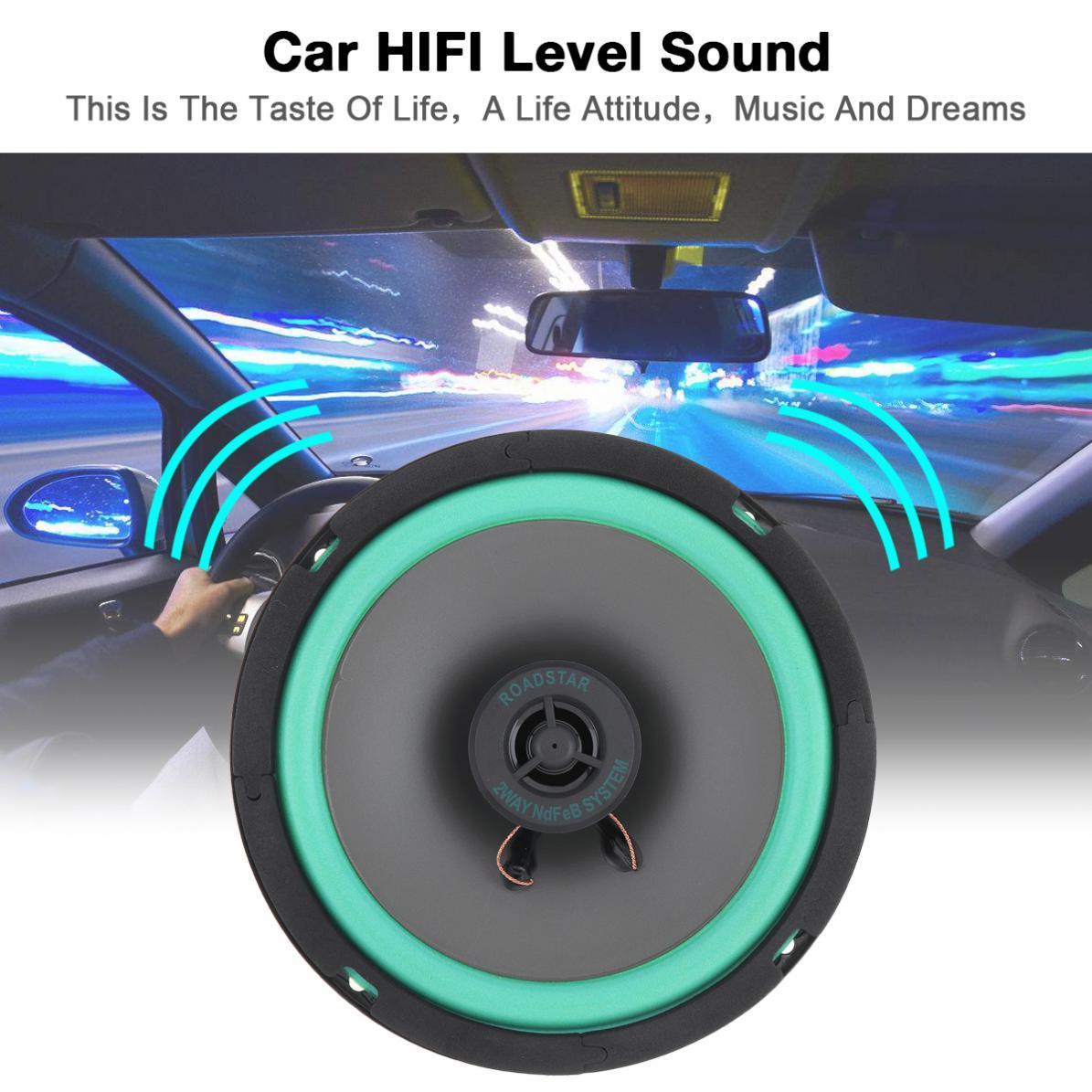 1 pçs 6.5 Polegada 12 v 160 w carro durável alto-falante coaxial de alta fidelidade porta do veículo auto áudio música estéreo gama completa alto-falantes freqüência