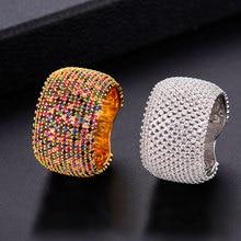 GODKI anillos de boda de Zirconia cúbica para mujer, joyería de compromiso nupcial, accesorios de boda para mujer, anillos de dedo entero