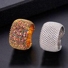 Godki Luxe Zirconia Trouwringen Voor Vrouwen Bridal Engagement Bruiloft Sieraden Cz Femmale Accessoires Hele Vinger Ringen