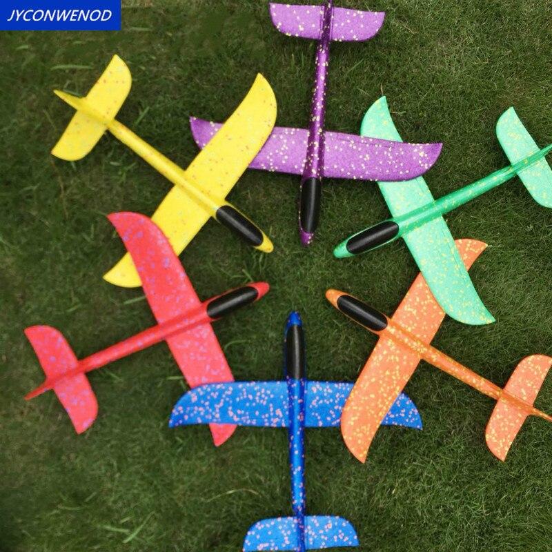 4 pièces/ensembles 36cm avion vol planeur enfant jeu de plein air main jeter vol planeur avions jouets pour enfants modèle d'avion en mousse (lot de 4)
