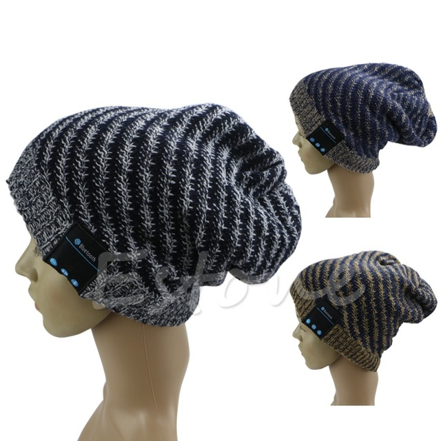 Sombrero Altavoz Micrófono inalámbrico Bluetooth Music Headset Auriculares Auriculares Beanie Hat