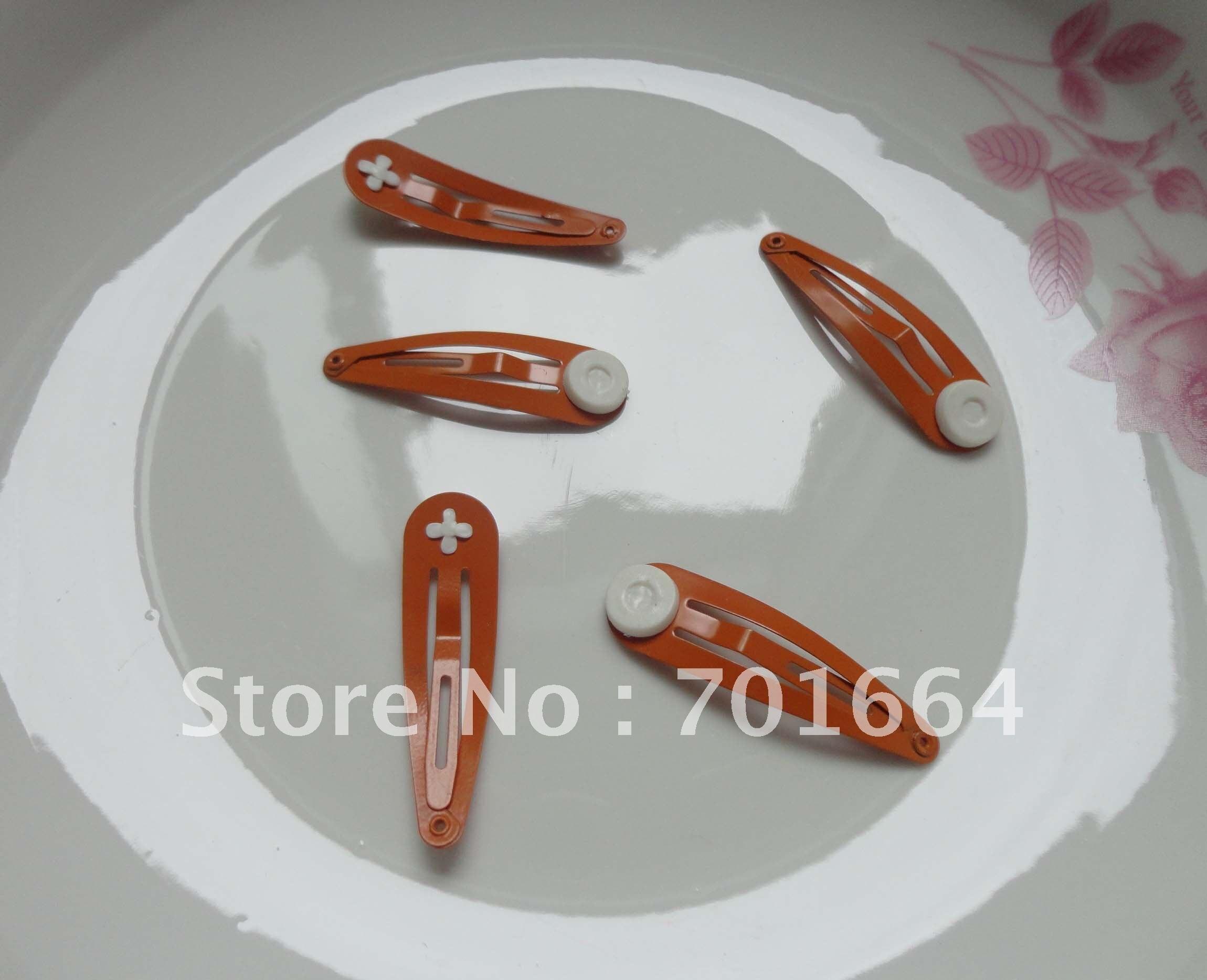 """50 шт. 4,0 см 1,"""" Оранжевый плотная Металическая защелка с 5 мм склеивания колодки на никель бесплатно и свинца Качество"""