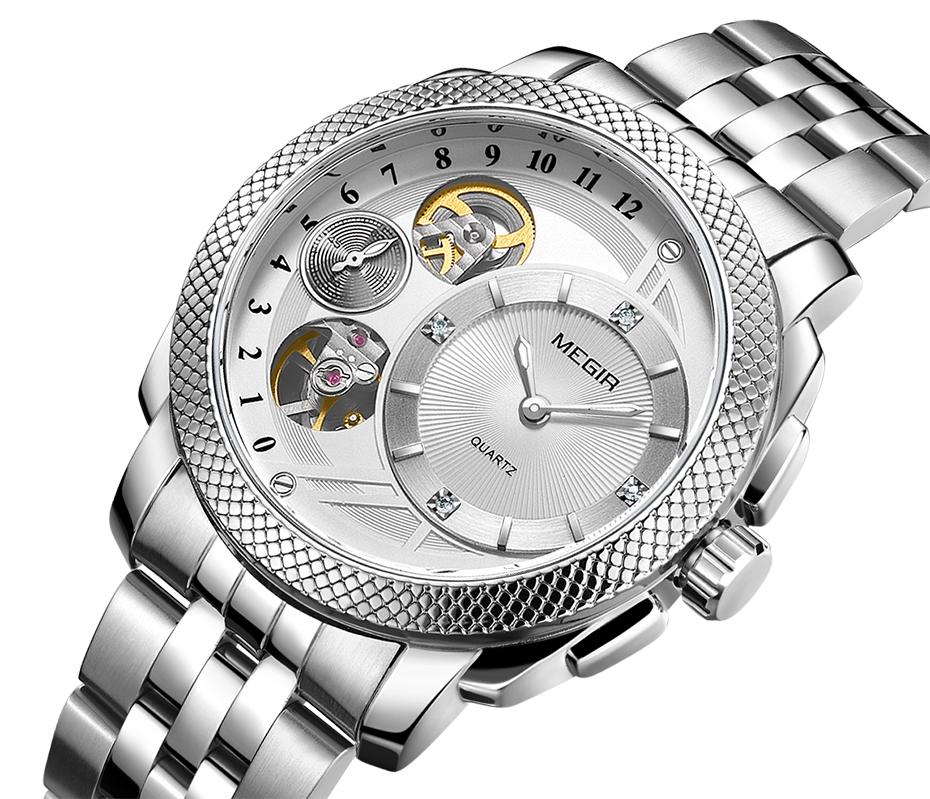HTB1B57JXZfrK1RkSnb4q6xHRFXaa MEGIR Luxury Quartz Watches Stainless Steel Military Wrist Watch