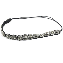 Ethnic beads knitted headband