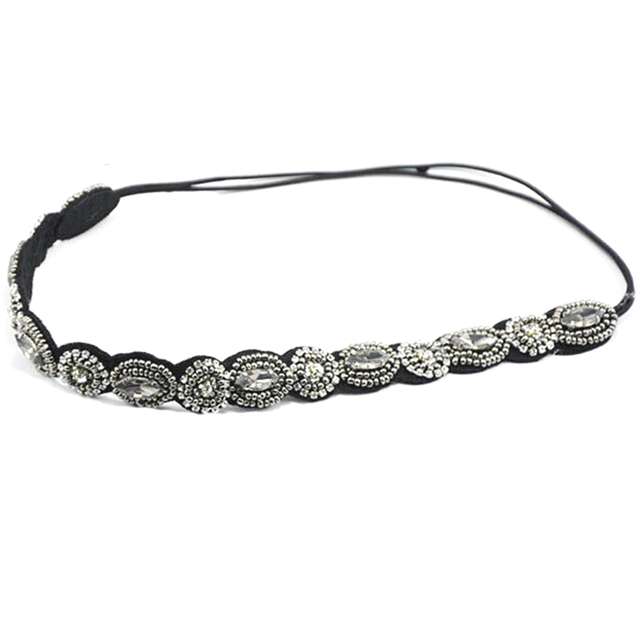 Ethnic beads knitted headband
