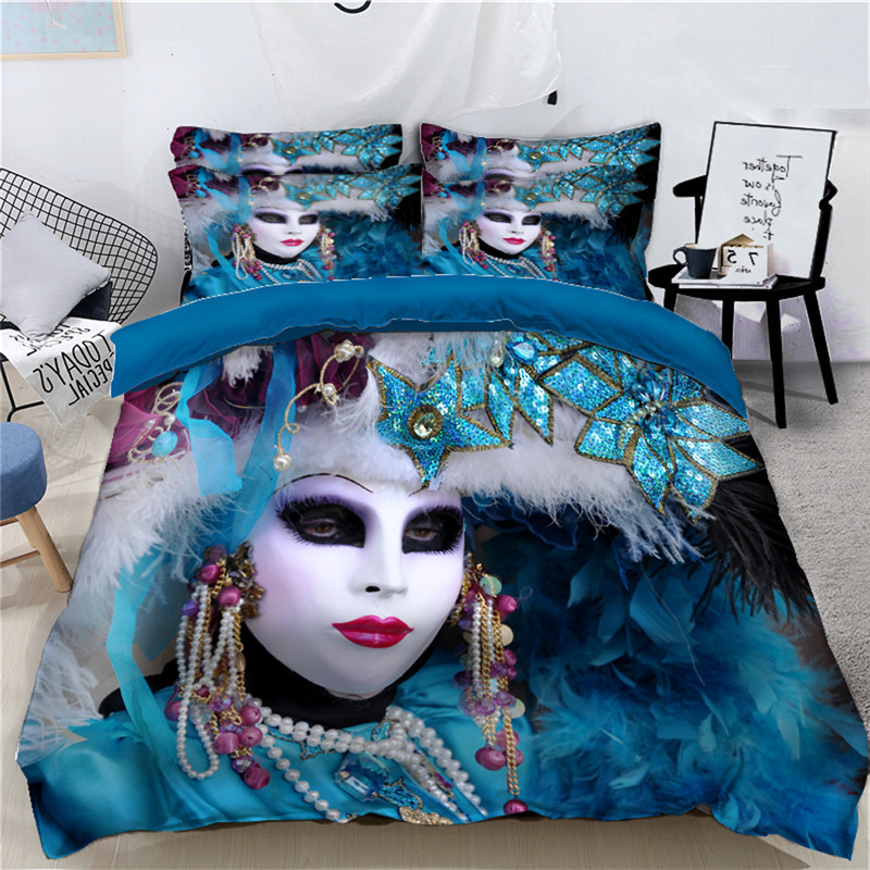 Halloween Cross dressing Bed 3D Bedding Set Duvet Cover with Twin Full Queen Children bed Pillowcase decorate Home Textiles SizeHalloween Cross dressing Bed 3D Bedding Set Duvet Cover with Twin Full Queen Children bed Pillowcase decorate Home Textiles Size