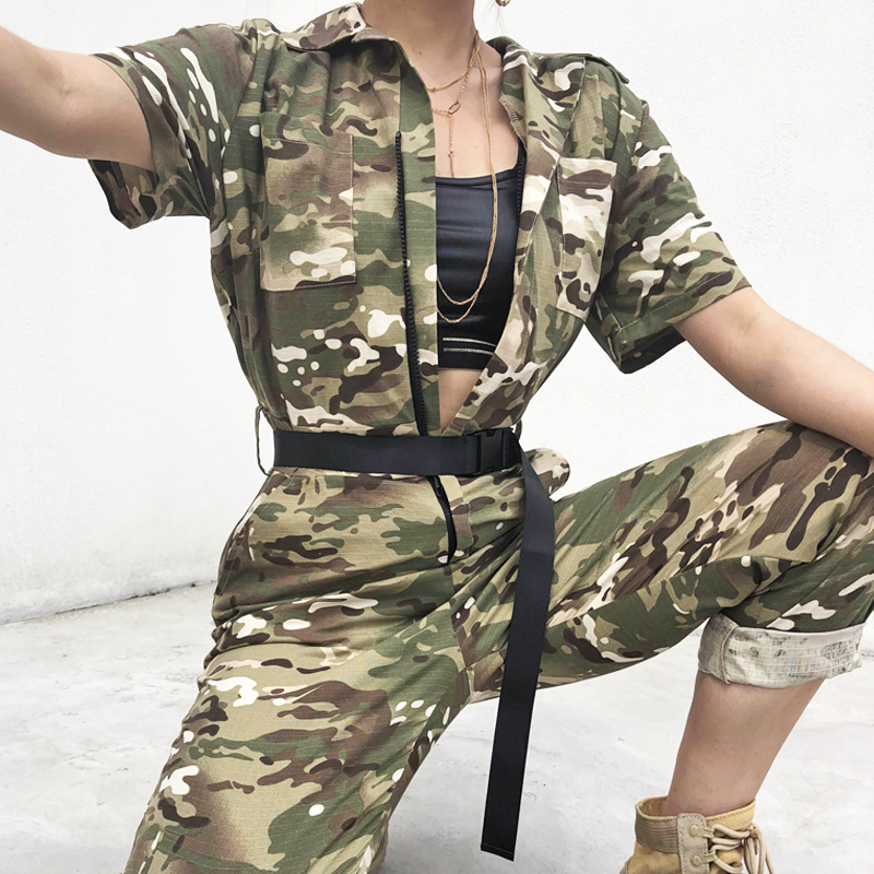 247aa6b737dd 7Sweetown Camouflage Long Jumpsuit Women Street Style Combinaison Pantalon  Femme Overalls Rompers Womens Jumpsuits Streetwear ...