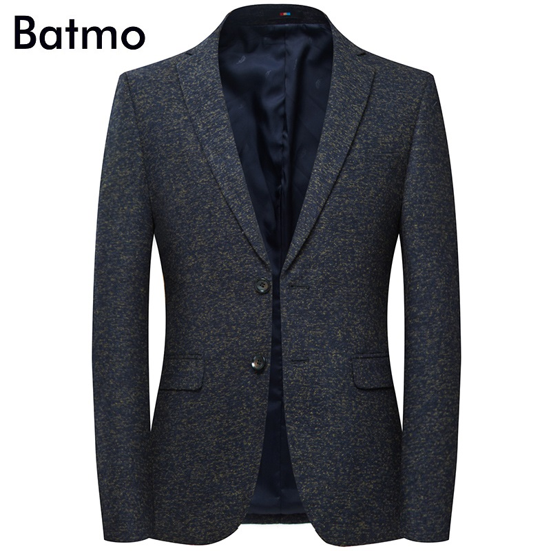 Batmo 2019 New Arrival High Quality Cotton Casual Gray Blazer Men,men's Suits Jackets ,casual Jackets Men 8157