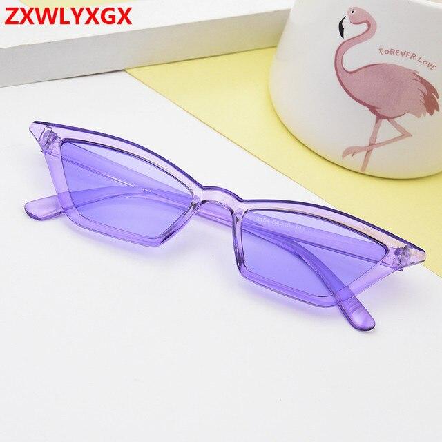 ZXWLYXGX 2018 new cat eye sunglasses women brand design retro colorful transparent colorful fashion cateye sun glasses men UV400 3