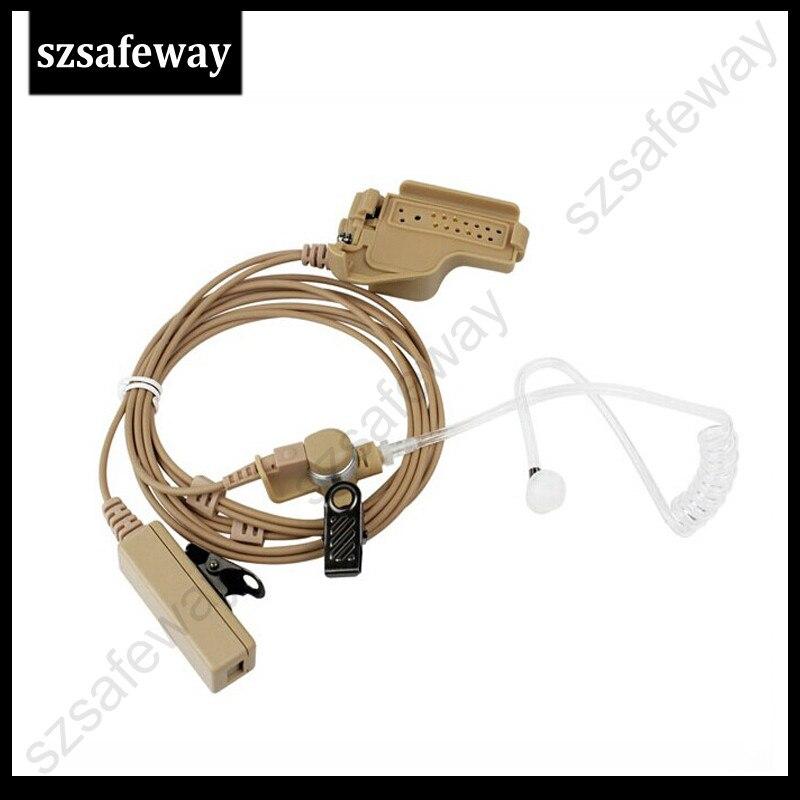 FBI Body Color Surveillance Kit Earpiece Headset Mic For Motorola MTS2000 HT1000,XTS5000 Etc