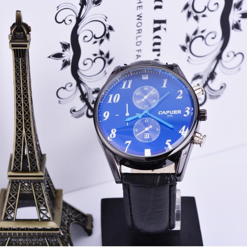 682 types of genuine kafur new watch blue face bla...