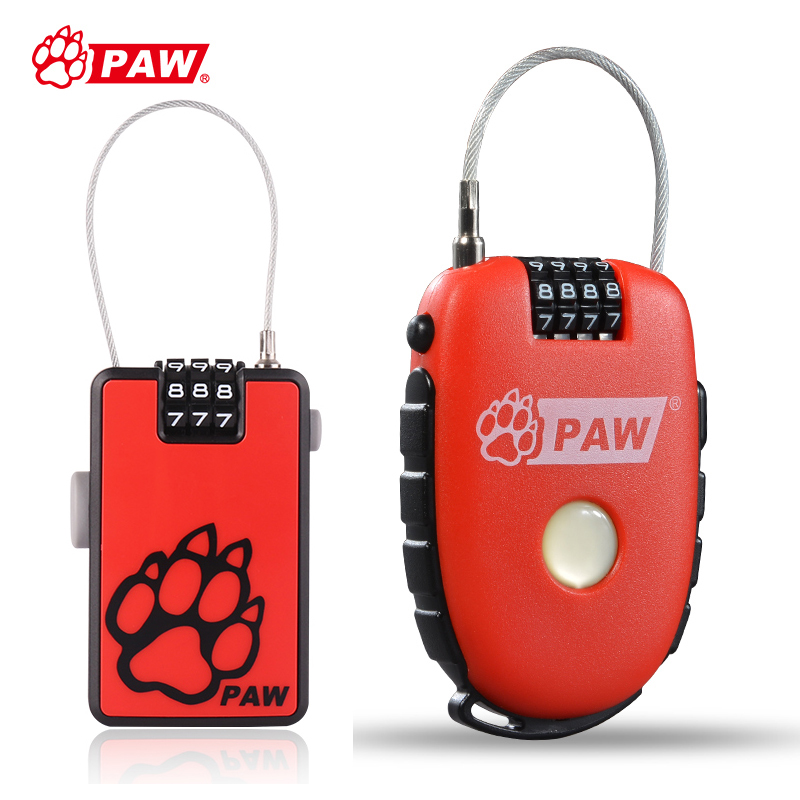 цена на PAW Mini Bike Bicycle Lock Helmet Bag Steel Wire Cable hook Lock Anti Theft Password Lock Cycling Buckle Safety Security Locks