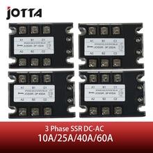 Jotta SSR 10DA/25DA/40DA/60DA DC ACสามPhase Solid State Relay 480VAC 3 32VDC