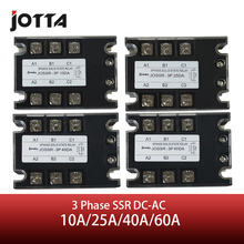 Jotta SSR 10DA/25DA/40DA/60DA DC Control AC relé trifásico de estado sólido 480VAC 3 32VDC