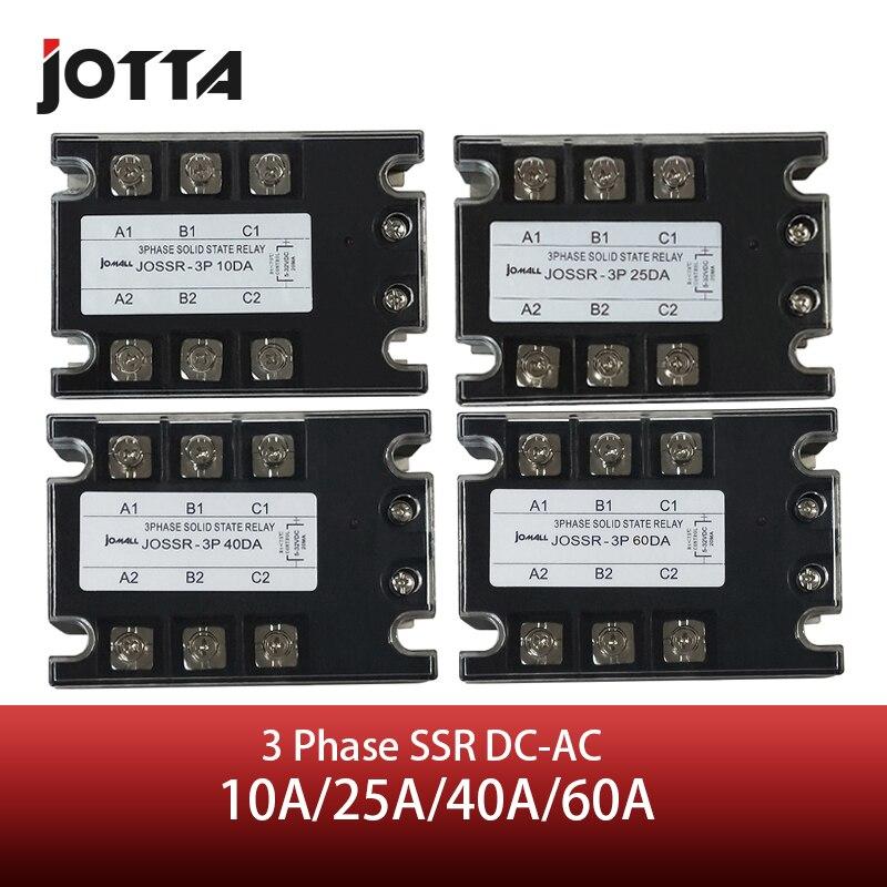 Jotta SSR 10DA/25DA/40DA/60DA DC di Controllo AC Relè a Stato Solido Trifase 480VAC 3-32VDC