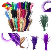 100 шт 100% натуральный гусь перо 15-20 см/6-8 дюймов разноцветный Высокое качество для Diy маска для костюма головной убор