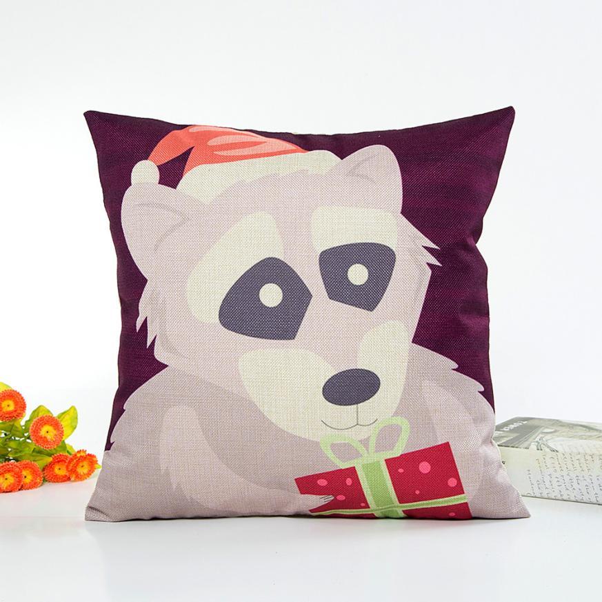 New Hot Pillowcase Scary Christmas Linen Sofa Cushion Cove Home Decor Pillow Cove Cojines Decorativos Almofadas Para Sierkussen