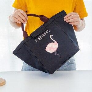 Image 4 - Junejour Neopreen Lunch Tas Voor Kinderen School Waterdichte Lunchbox Oxford Flamingo Draagbare Lunch Tas Tote Handtas Voedsel Container
