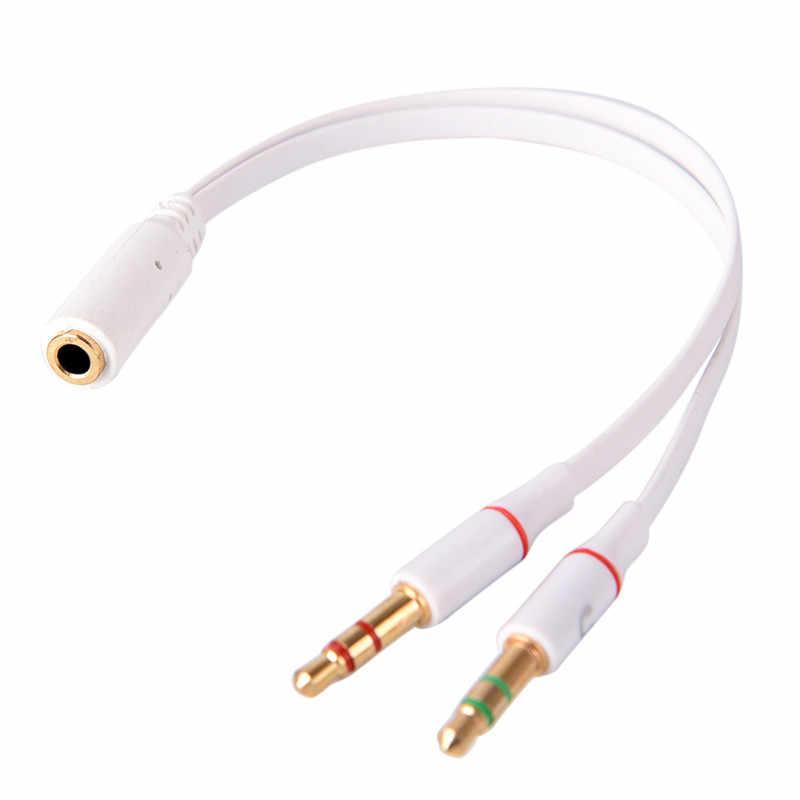 Сплиттер 3,5 мм Женский до 2 Мужской Y сплиттер Aux аудио кабель PC наушники микрофон разъем адаптер 1 мама до 2 папа подключен