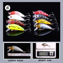 YTQHXY 38pcs/lot Fishing Lures Mixed 6 Model Minnow Lure Pesca Artificial Quality Crankbait Wobblers Fishing Tackle YE-112