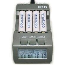 Высокое качество оригинальный Opus BT-C700 Зарядное устройство NiCd NiMh ЖК-дисплей интеллектуальный цифровой 4 слот, зарядное устройство ЕС/США Plug