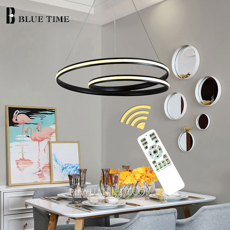 Kitchen Modern Led Chandeliers For Living room Dining room Bedroom Lustres Surface Mounted Ceiling Chandelier Lamp White&BlackKitchen Modern Led Chandeliers For Living room Dining room Bedroom Lustres Surface Mounted Ceiling Chandelier Lamp White&Black