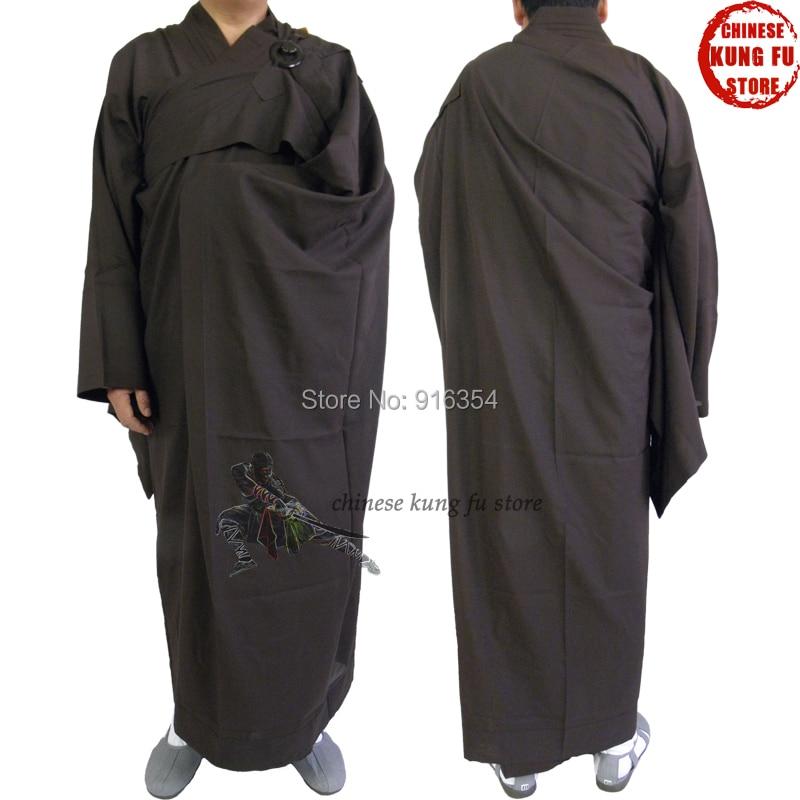 Shaolin Monk Dress Buddhist ManYi Kesa Robe With Haiqing Robe Kung Fu Training Meditation Uniform Suit