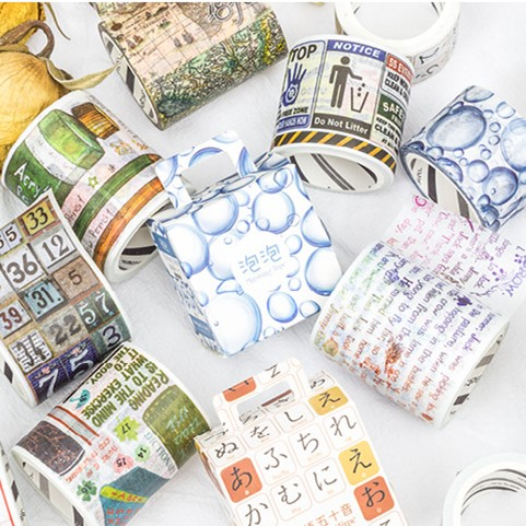 Vintage Theme Washi Tape Japanese Scrapbooking Decorative Tapes Adhesive Sticker Label Masking Tape