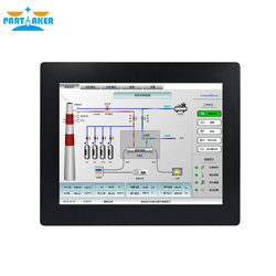 Industrie Touch Panel PC mit 17 Zoll 5 Draht Resistiven Touchscreen Alle In Einem PC Intel Core i7 4600U 4G RAM 64G SSD