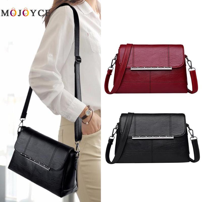 Retro PU Leather Women Shoulder Bags Luxury Brand Flap Messenger Bag Elegant Office Ladies Handbag Bolsa Feminina 1