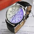 2016 Nova moda casual relógio de pulso militar relógio de quartzo dos homens de luxo homem relógio analógico de pulso de couro à prova d' água Relogio masculino