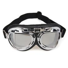 a6095d5ebd9 New UV Protect Motorcycle Goggles Eyewear Windproof Dust-proof Control  Glasses Silver Lens with Chrome Frame