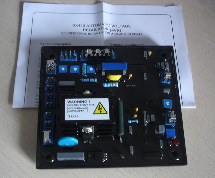 лучшая цена New Black Automatic Voltage Regulator AVR SX440 For Generator parts