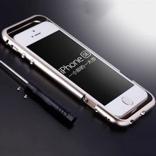 Two-stage Arc Edge Aluminum Bumper Slim Luxury Metal Frame Case for iPhone 5 s 5s se Phone Brand Protective Cover Coque Capinha
